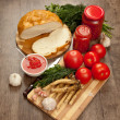 Stock Photo: Savory tomato, garlic and horseradish