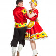Russian folk dance — Stock Photo