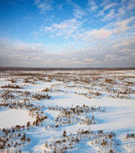 View over the snowy expanses — Stock Photo