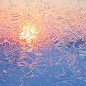 Frosty patterns — Stock Photo