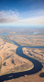 Aerial view of great river in autumn — Stock Photo