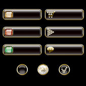 Internet buttons, gold and with precious stones — Vetorial Stock