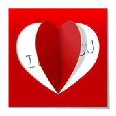 Heart love message — Stock Vector