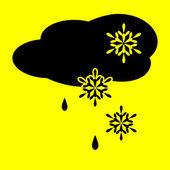 Icon cloud snow and rain — Stock Vector