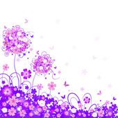 Floral lilac background — Stock Vector