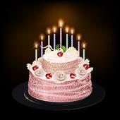 Ciasto z świece — Wektor stockowy