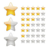 Star rating icons — Stock Vector
