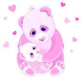 Mom and baby bears — Stock Vector