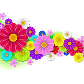 Floral background of flowers — Stock Vector