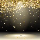 Gold confetti — Stock Vector