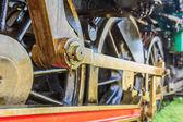 Wheel steam locomotive — Stock Photo