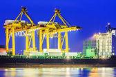 Container frakt lastfartyg — Stockfoto