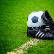 Football and Shoes — Stock Photo