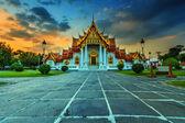 El templo de mármol, wat benchamabophit — Foto de Stock
