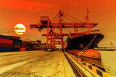 Frachtschiff — Stockfoto