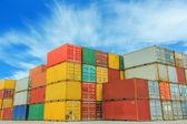Cargo containers — Stockfoto