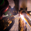 Stock Photo: Welder working