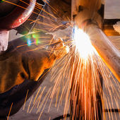 Welder working — Stock Photo