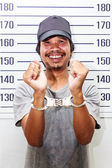 Arrested Man with handcuffs — Stock Photo