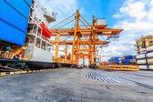 Industriële container vrachtschip vracht — Stockfoto