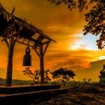 Buddha statue at sunset  — Stock Photo #47607445