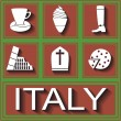 Icons symbols of Italy — Stock Vector #43135575
