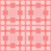 Pink vignettes seamless pattern — Stock Vector