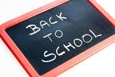 Torna alla lavagna di scuola — Foto Stock