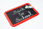 Back to school, blackboard and chalks. — Stock Photo