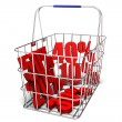 Sales in the shopping basket — Stock Photo