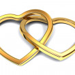 Two gold hearts — Stock Photo #33339299