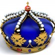 Gold crown with jewels — Stock Photo