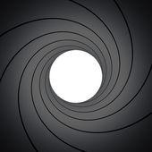 Inside gun barrel — Stock Photo