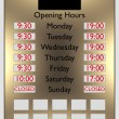 Commercial opening hours — Stock Photo