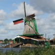 Windmills in an Old Dutch Village of Holland. — Stock Photo