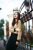 Garota de moda com maquiagem — Foto Stock
