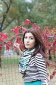 Armenian girl in the park — Stock fotografie