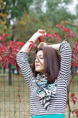 Armenian girl in the park — Foto Stock