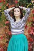 Armenian girl in the park — Stockfoto