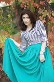 Armenian girl in the park — Foto Stock