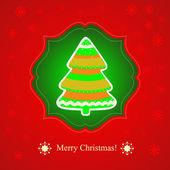 Biglietto di auguri di natale. scritte in merry christmas, illustrazione vettoriale — Vettoriale Stock