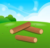 Wooden Logs Isolated vector objects — Stock Vector
