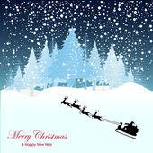 Noel tebrik kartı. merry christmas yazı, vektör çizim — Stok Vektör