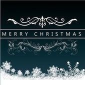 Christmas Greeting Card. Merry Christmas lettering, vector illustration — Stock Vector