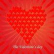 Love You Valentine's Day Greeting card, vector illustration — Vektorgrafik