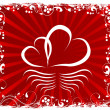 Love You Valentine's Day Greeting card, vector illustration — 图库矢量图片