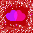 Love You Valentine's Day Greeting card, vector illustration — Imagen vectorial