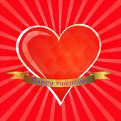 Te amo cartões de dia dos namorados, ilustração vetorial — Vetor de Stock