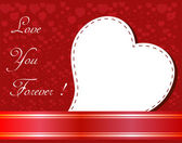 Valentines Day beautiful background with ornaments and heart. — Vector de stock