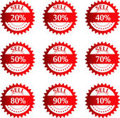 Discount price tags. Vector. — Stock Vector